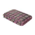"Одеяло шерстяное ""Клетка"" 140х205 см, 75% шерсть, 25% п/э, 500 гр/м2, оверлок, цвет МИКС"