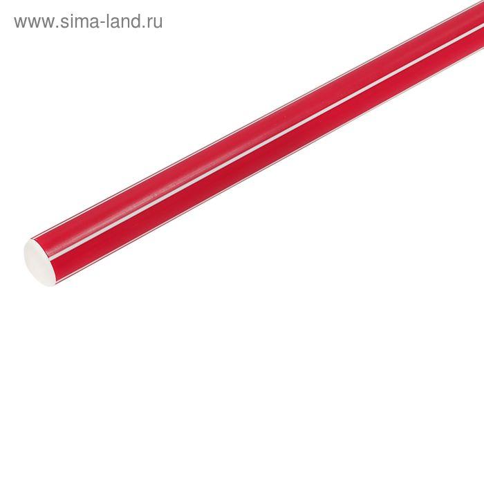 Палка гимнастическая 80 см, цвет: красный
