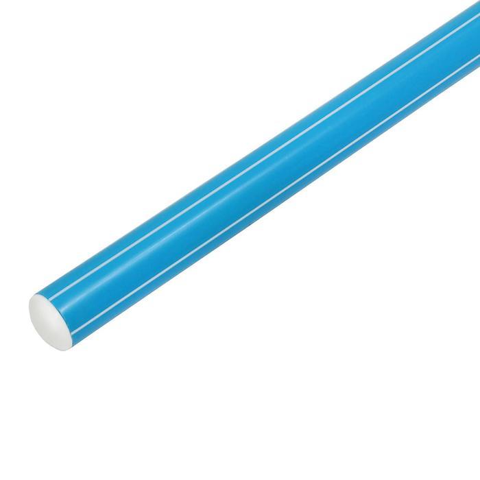 Палка гимнастическая 100 см, цвет: голубой