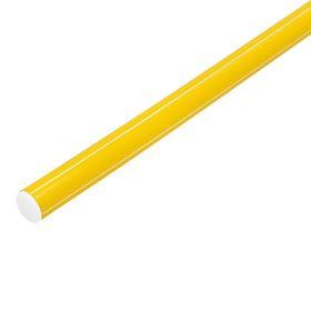 Палка гимнастическая 100 см, цвет: желтый