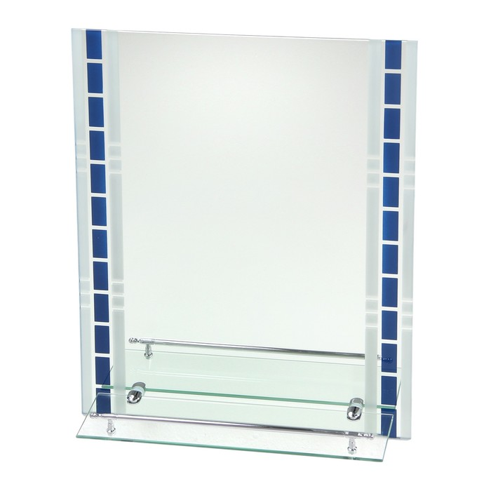 Зеркало в ванную комнату Ассоona А615, 600 х 450 мм, 1 полка