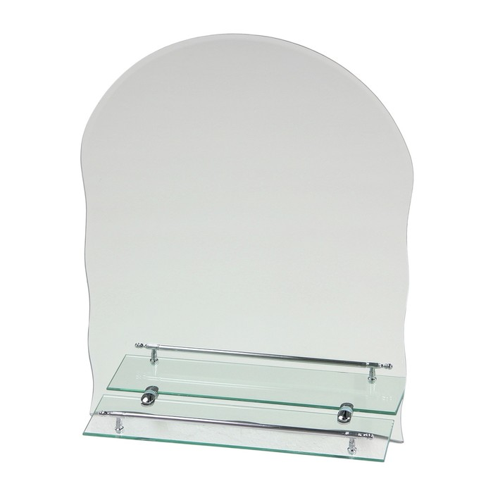 Зеркало в ванную комнату Ассоona А614, 600 х 450 мм, 1 полка