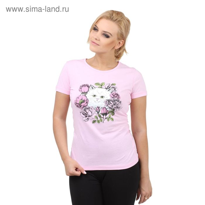 "Футболка Collorista ""Котенок"" р-р XL(50), розовый"