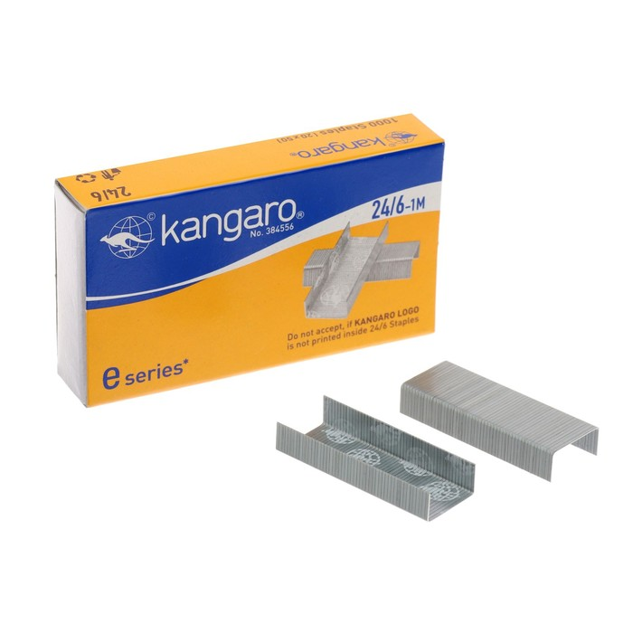 Скобы для степлера №24/6 Kangaro стальные 1000шт