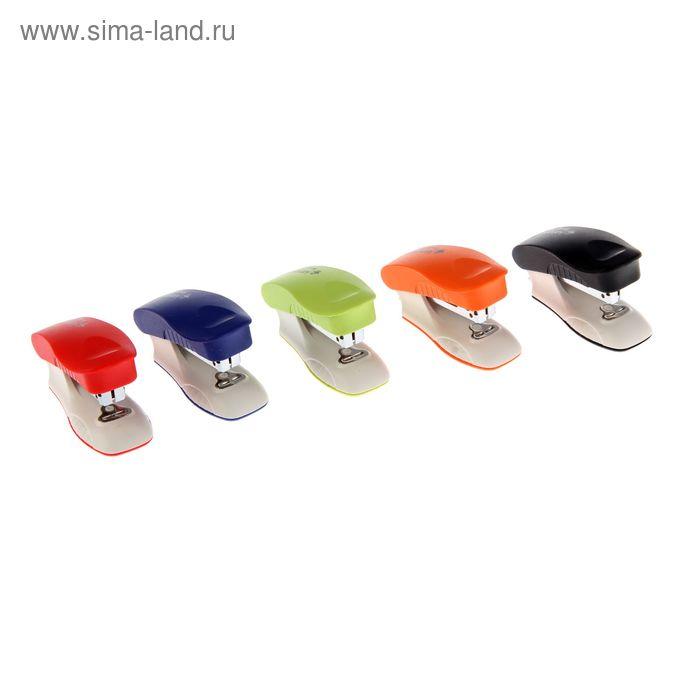Степлер №10 20 листов Kangaro mini TRENDY 10M, встроенный антистеплер, 50 скоб, микс
