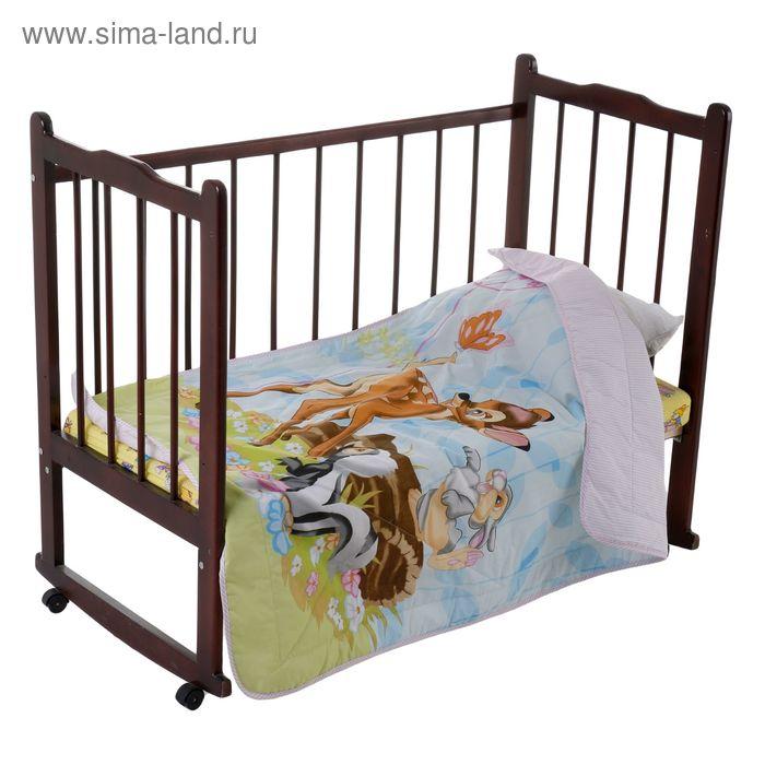 Одеяло облегченное Disney Бемби и друзья 105*140 ± 5 см, файбер 200 гр/м2, бязь