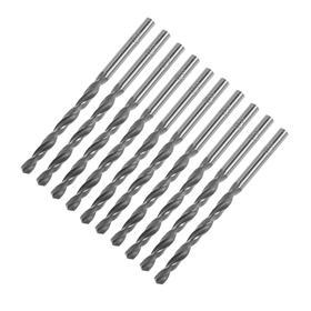 Сверло по металлу TUNDRA basic, (набор 10 шт). сталь HSS, 4 мм.