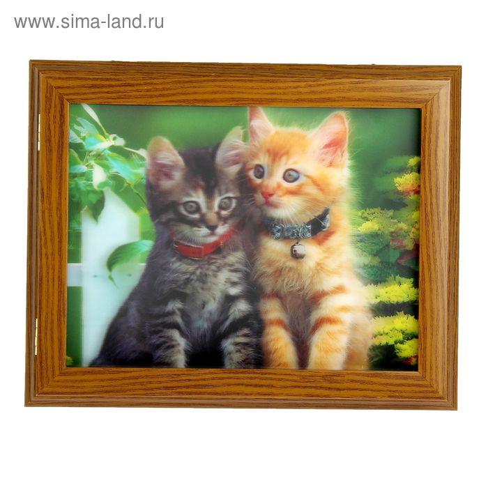 """Ключница 3D """"Котята"""""""