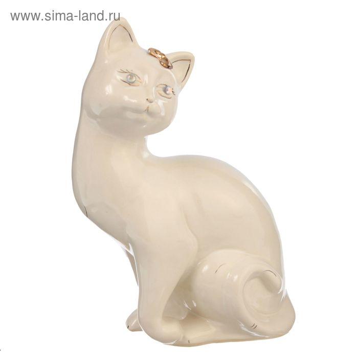 """Копилка """"Кошка Шарлотта"""" глазурь, белая"""