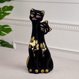 """Копилка """"Кошка и кот"""" флок, микс"""