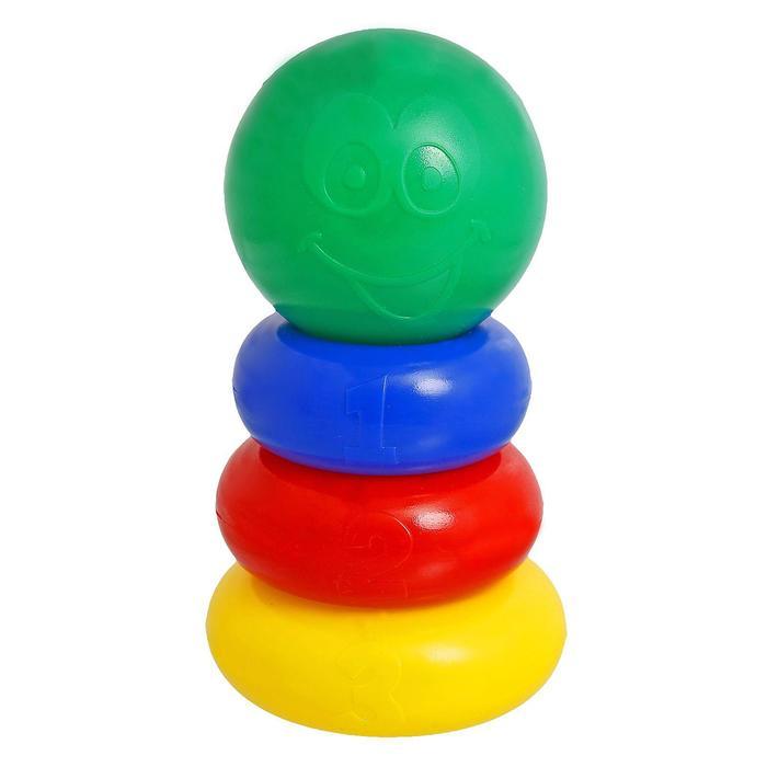 Пирамидка 3 кольца, с шаром