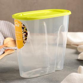 Емкость 1,5 л для сыпучих продуктов, цвет салатовый