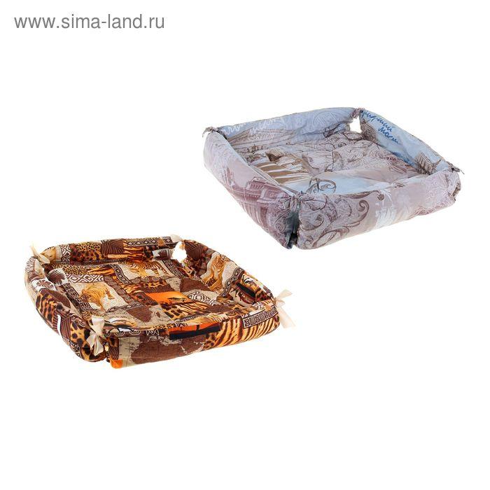 """Лежанка для животных """"Коробочка"""", 60 х 60 х 24 см, микс цветов"""
