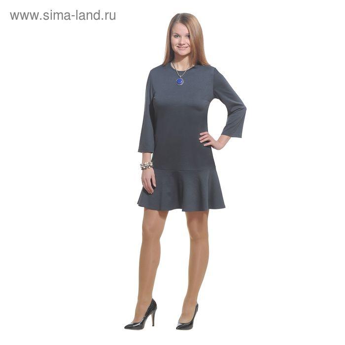 Платье женское 3779б, размер 44, цвет темно-серый