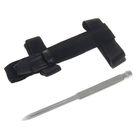 Нож нескладной, 18 см, в чехле с креплением на ремень, металлическая рукоять