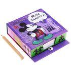 "Блок бумаги для записей в футляре ""Мои заметки"", Микки Маус, 150 листов"