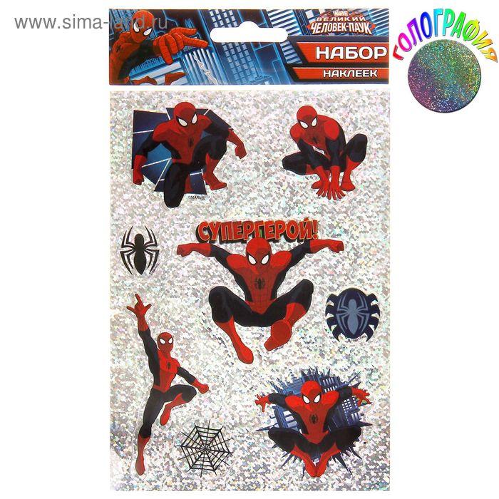 """Наклейки декоративные голография """"Супергерой"""", Человек-Паук"""