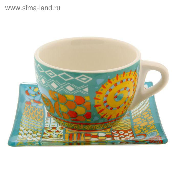 """Чайный набор кружка с блюдцем """"Этника"""", 150 мл"""