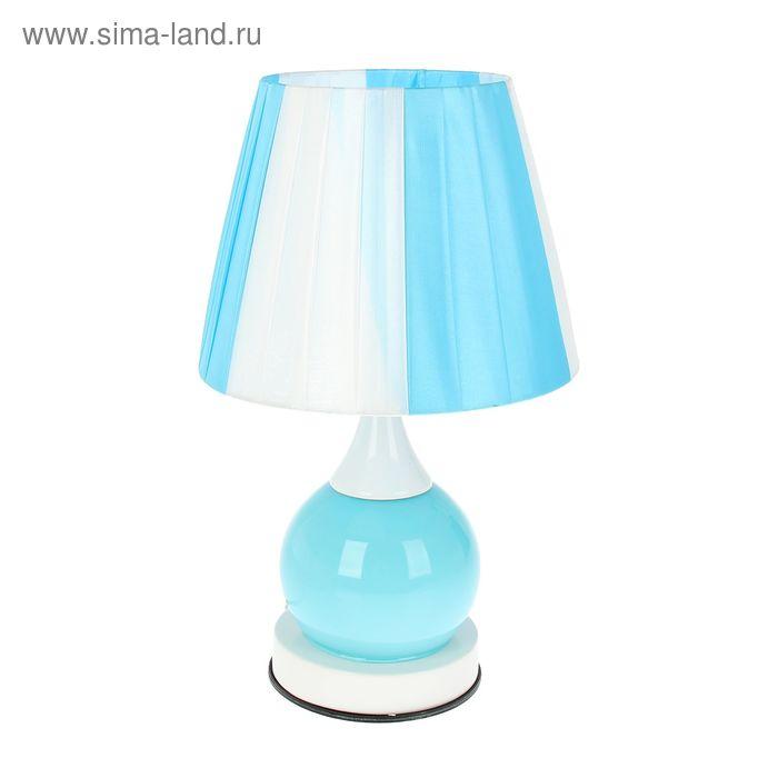 """Лампа настольная """"Тиана"""" голубая, 2 режима"""