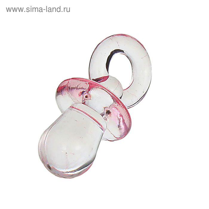 """Декор """"Соска"""", набор 12 шт., цвет розовый"""