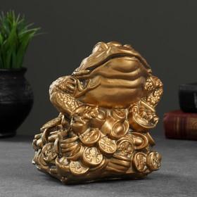 """Сувенир """"Трёхлапая жаба"""" малая, золото"""