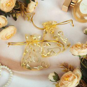 Мешочек подарочный 'Сердечки' 7*9, цвет золотой Ош