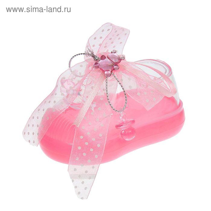 """Бонбоньерка """"Туфелька"""" с бантиком, цвет розовый"""