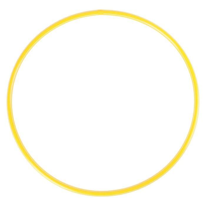 Обруч диаметр 80 см, цвет жёлтый