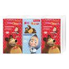 Платочки бумажные «Premial» Маша и Медведь, трехслойные, 10 шт/уп