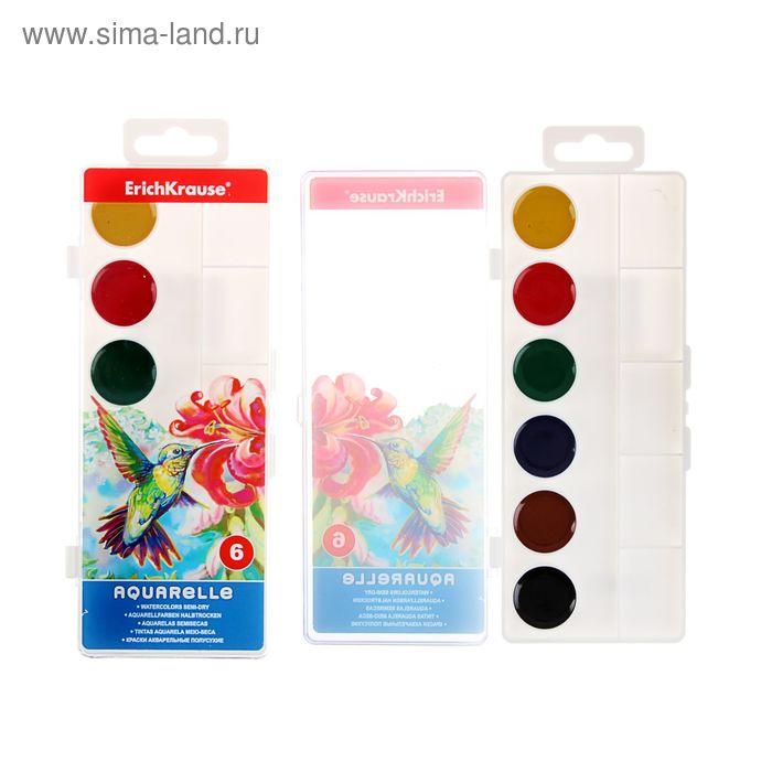 Акварель медовая 6 цветов Erich Krause, с палитрой, EK 35167