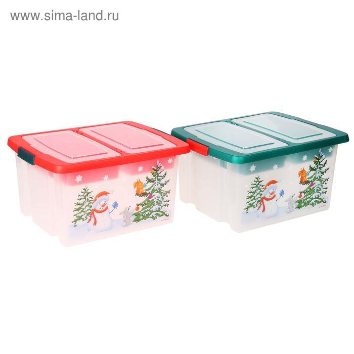 Ящик для ёлочных игрушек с крышкой, МИКС