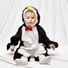 """Карнавальный комбинезон для самых маленьких """"Пингвин"""" с игрушкой, велюр, рост 68-92 см"""