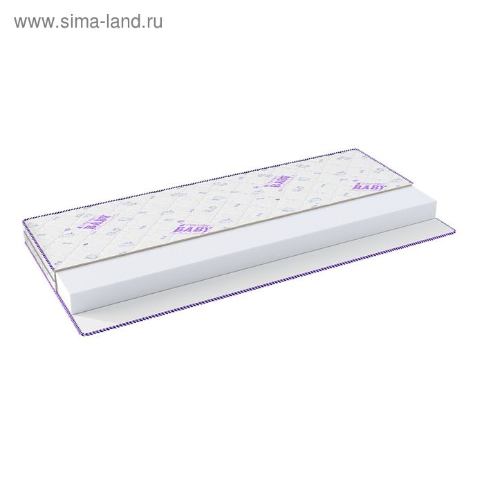 Матрас Бэби Лайт Экстра, размер 60х120 см, холлофайбер харт 6см, чехол МИКС