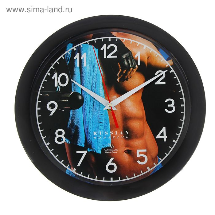 """Часы настенные круглые """"Спорт"""", с нанесением по ободу"""