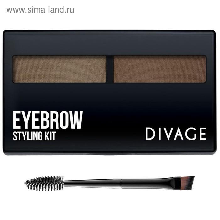 Набор для моделирования формы бровей Divage Eyebrow Styling, тон №01