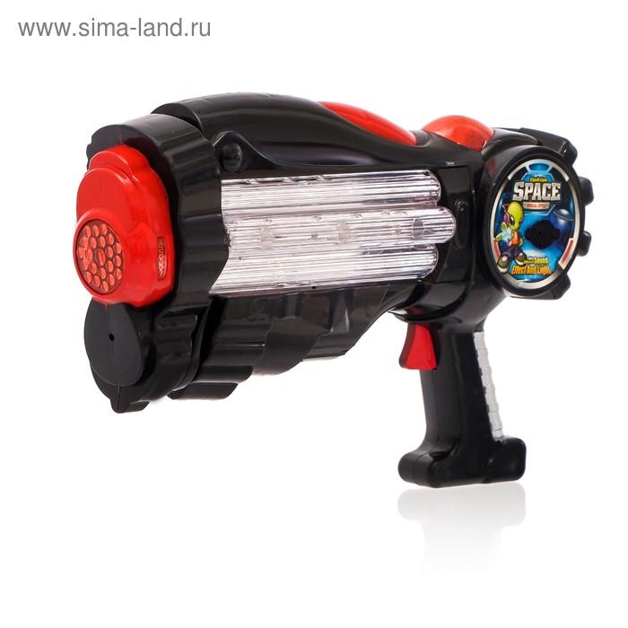 """Пистолет """"Космобластер"""", световые и звуковые эффекты, работает от батареек, цвета МИКС"""