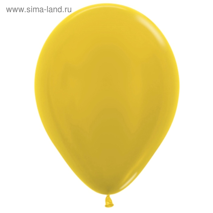 """Шар латексный 10"""", металл, набор 100 шт., цвет жёлтый"""