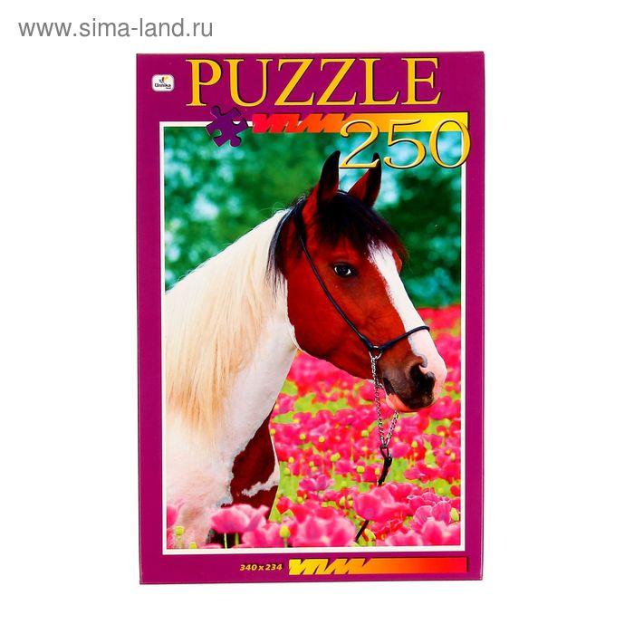 """Пазлы """"Лошадь в цветах"""", 250 элементов"""