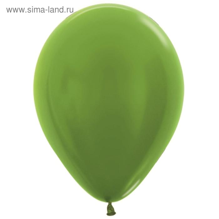 """Шар латексный 10"""", металл, набор 100 шт., цвет светло-зелёный"""