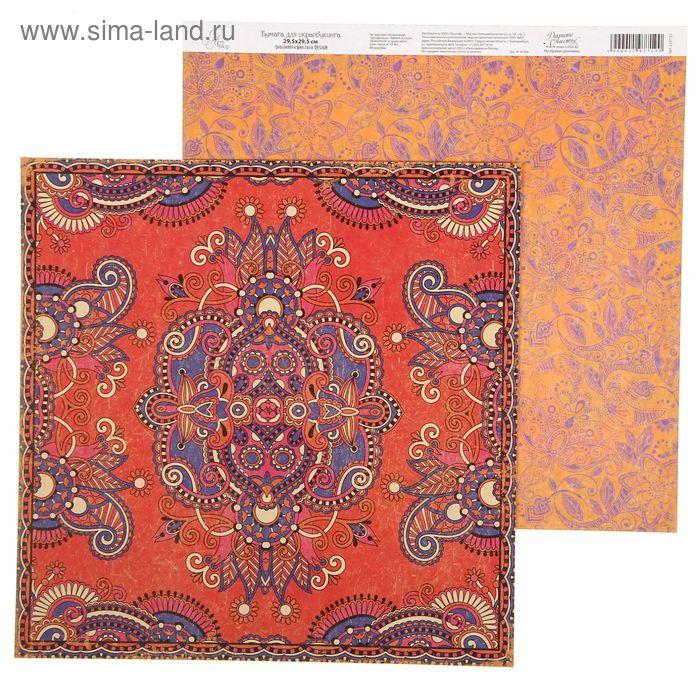 "Бумага для скрапбукинга ""Персидский ковер"" 30,5 х 30,5 см, 180 г/м 180 г/м"