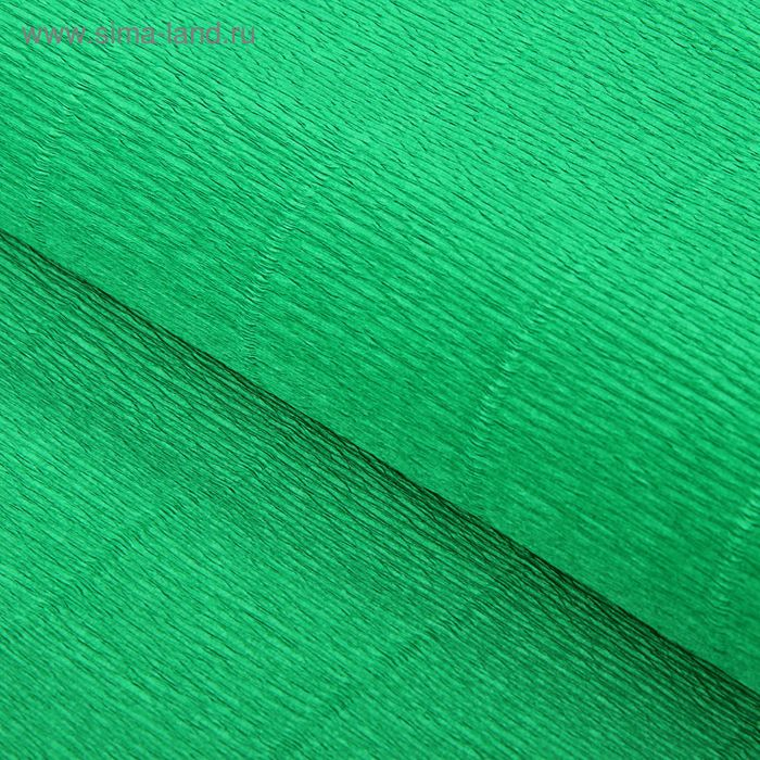 Бумага гофрированная 963 зеленая, 50 см х 2,5 м