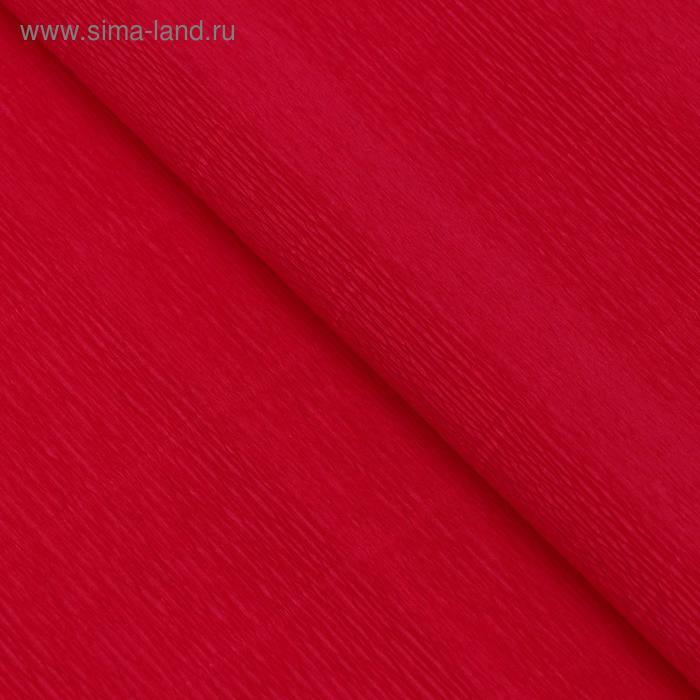 Бумага гофрированная 980 красно-оранжевая (мандариновая), 50 см х 2,5 м