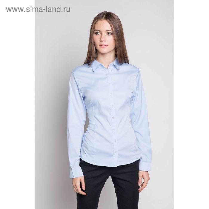 Блузка женская с длинным рукавом 905-1515L, размер 50, цвет голубой