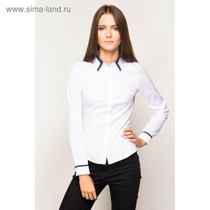 Блузка женская с длинным рукавом 905А-132158, размер 48, цвет белый