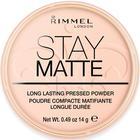 Пудра для лица Rimmel Stay Matte- Pink Blossom №002