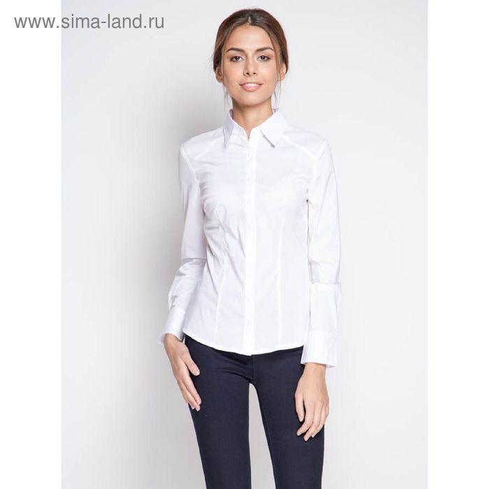 Блузка женская с длинным рукавом 905-8195L, размер 52, цвет белый