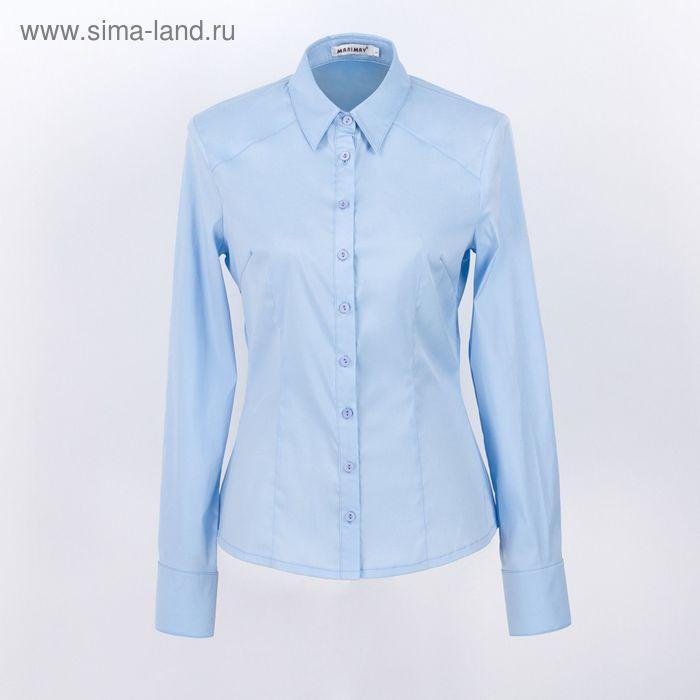 Блузка женская с длинным рукавом 905-8195, размер 40, цвет голубой