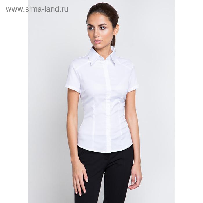 Блузка женская с длинным рукавом 905-1216L, размер 54, цвет белый
