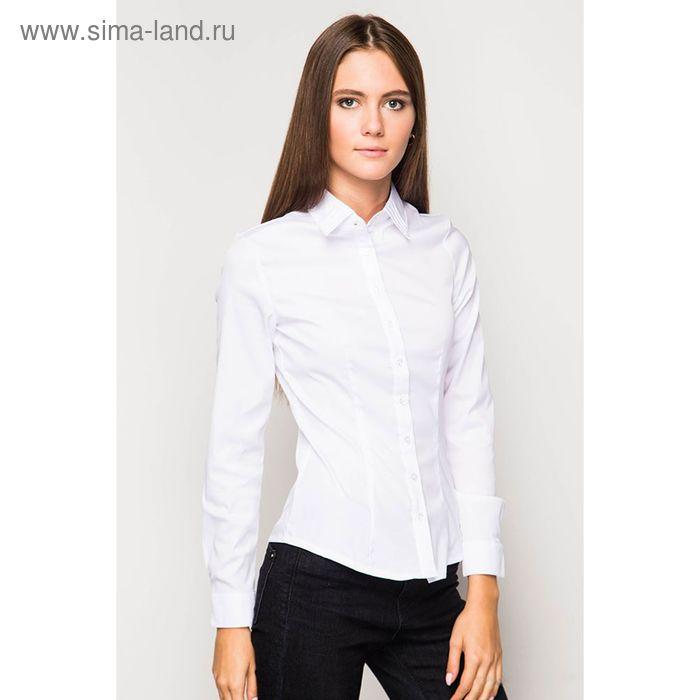 Блузка женская с длинным рукавом 905-132185, размер 48, цвет белый