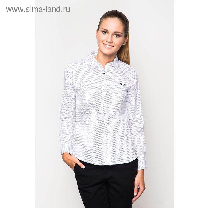 Блузка женская с длинным рукавом 40S-1562, размер 46, цвет белый